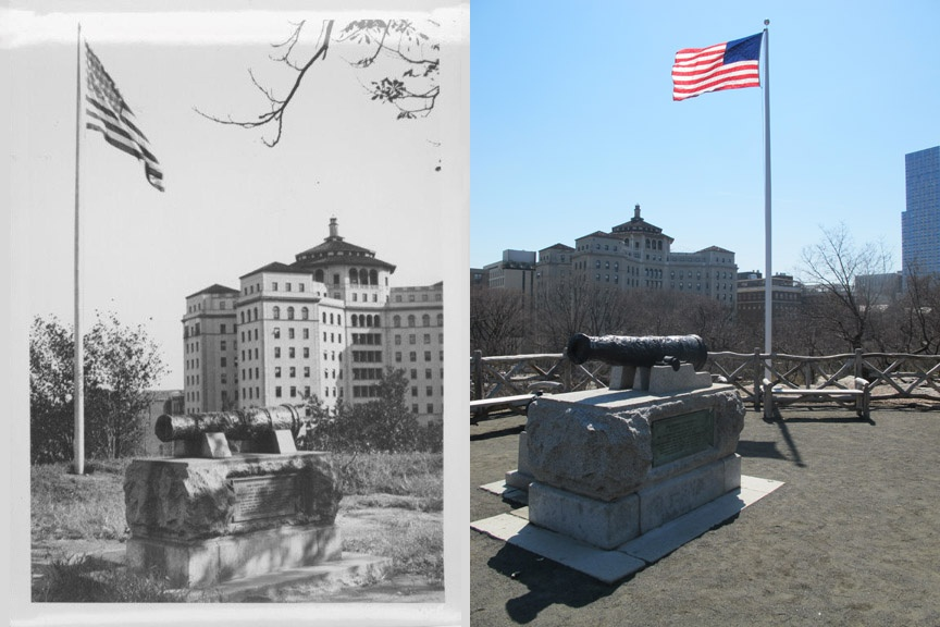 McGown's Pass site,Before and After;Black and white photo courtesy of the Central Park Conservancy.